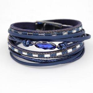 Jewelry - Leather wrap bracelet - Blue
